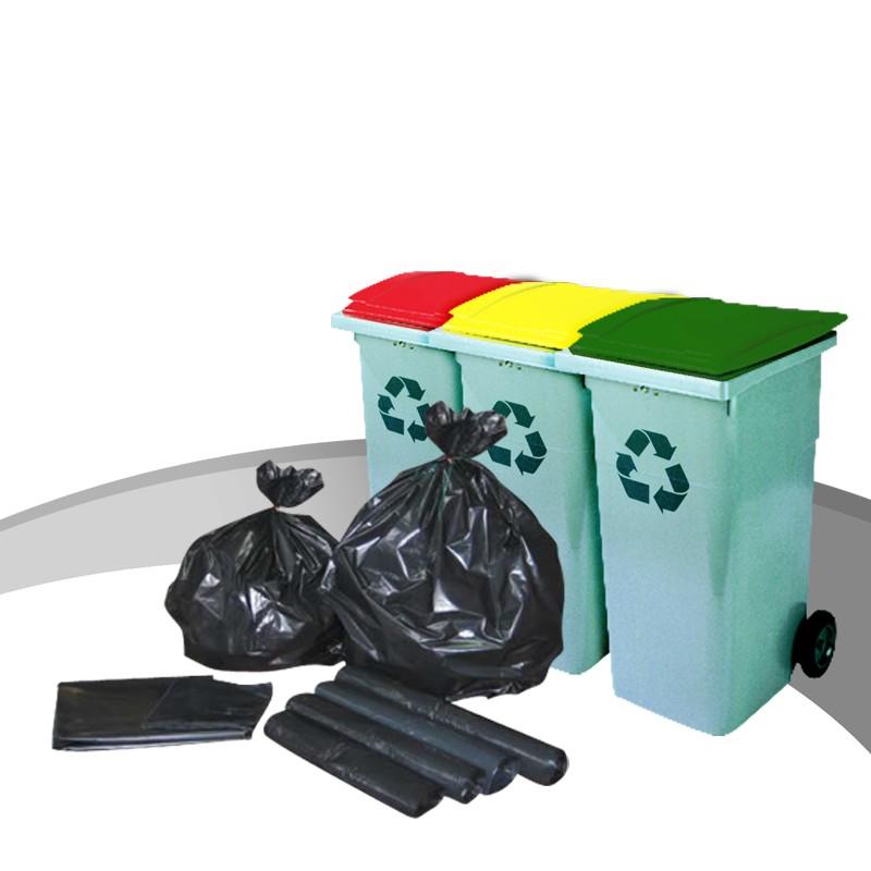 Des Sacs Poubelles Noirs : Sacs poubelles eco noir l